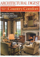 June 2010 - Architectural Digest - Featuring Mossy Creek Stables and Elite Barns